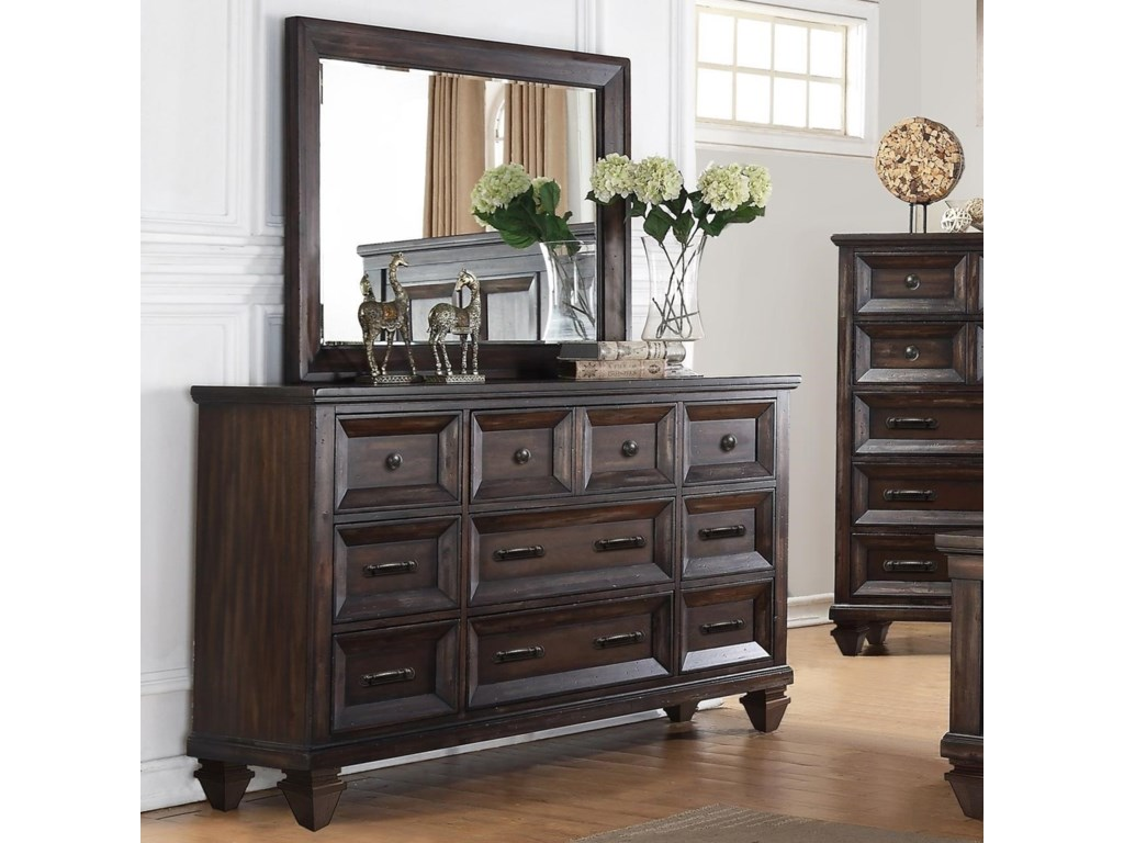 New Classic SevillaDresser and Mirror Set