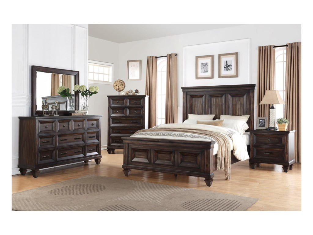 New Classic Sevilla 6 Piece Bedroom Group Royal Furniture
