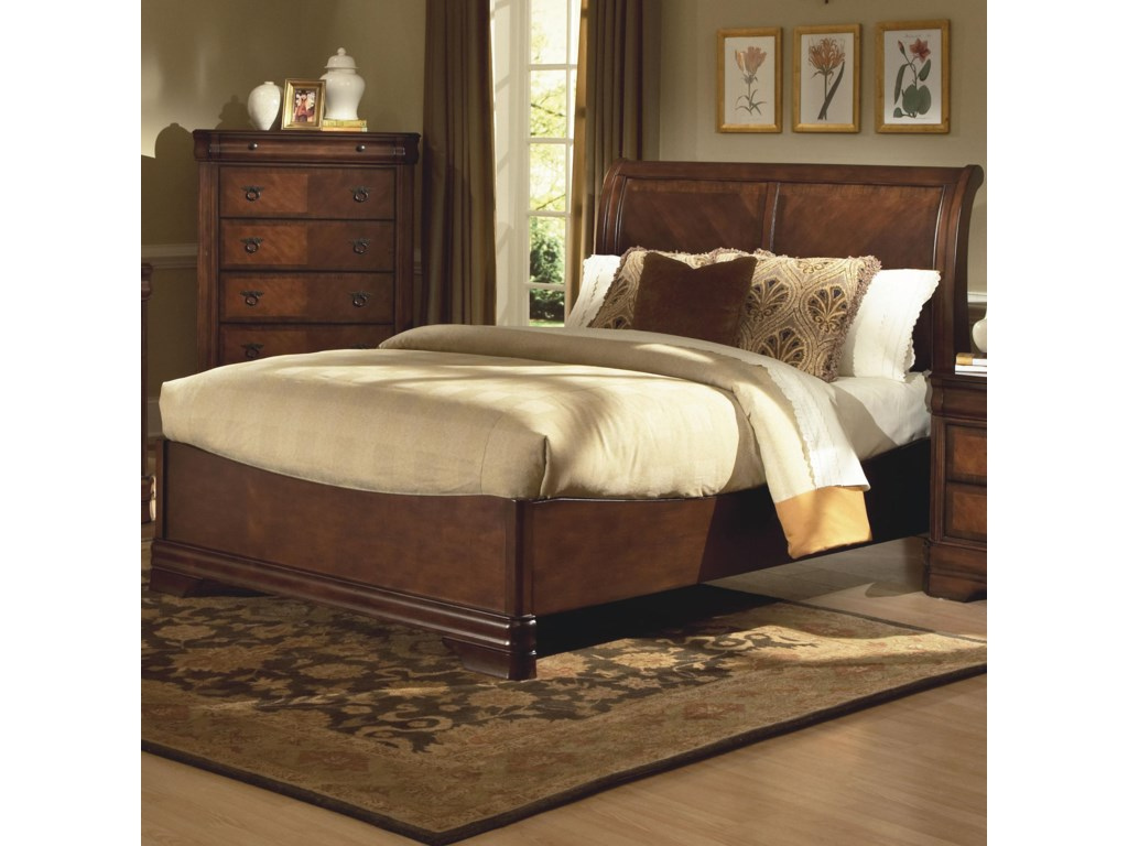 save off b8634 63308 Sheridan King Bed w/ Sleigh Headboard by New Classic at Dunk & Bright  Furniture