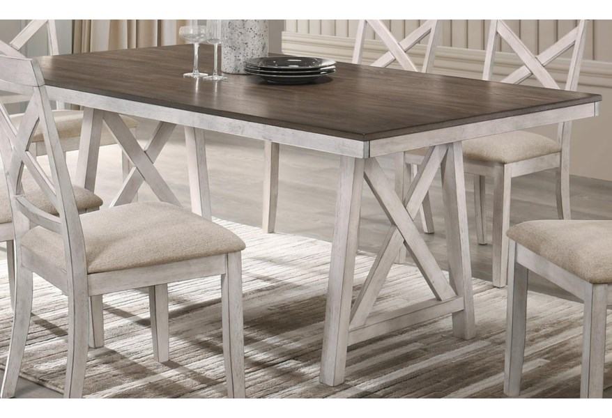 New Classic Somerset Farmhouse Dining Table With Rectangular Wood Top Wilson S Furniture Dining Tables