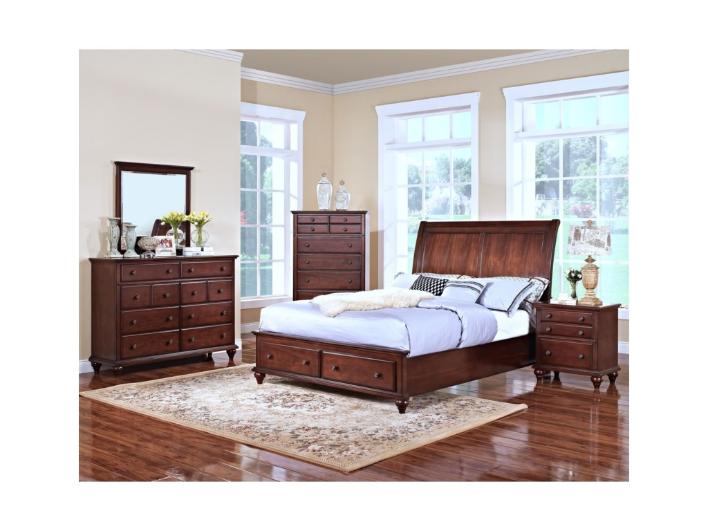 New Classic Spring CreekQueen Low Profile Storage Bed