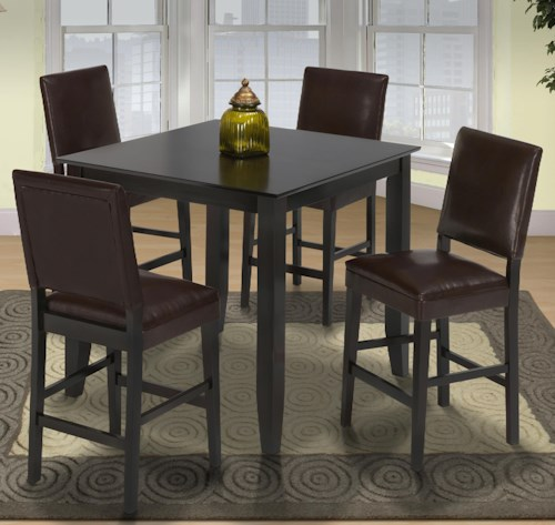 New Classic Style 19 Small Pub Table and Upholstered Chairs