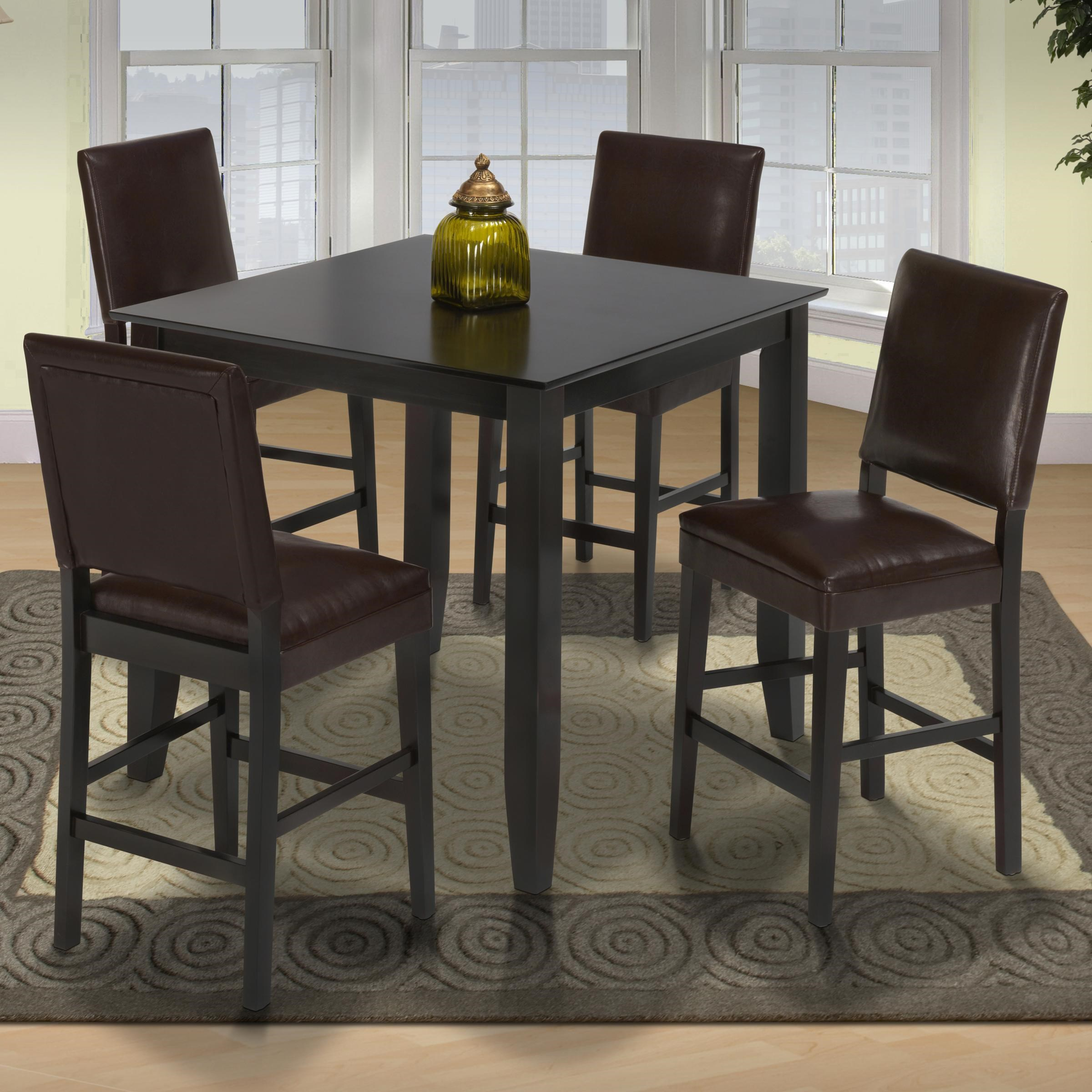 New Classic Style 19Pub Height Table And Upholstered Chairs