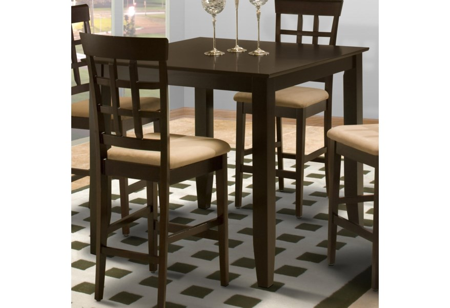 New Classic Style 19 Square Counter Height Kitchen Table ...