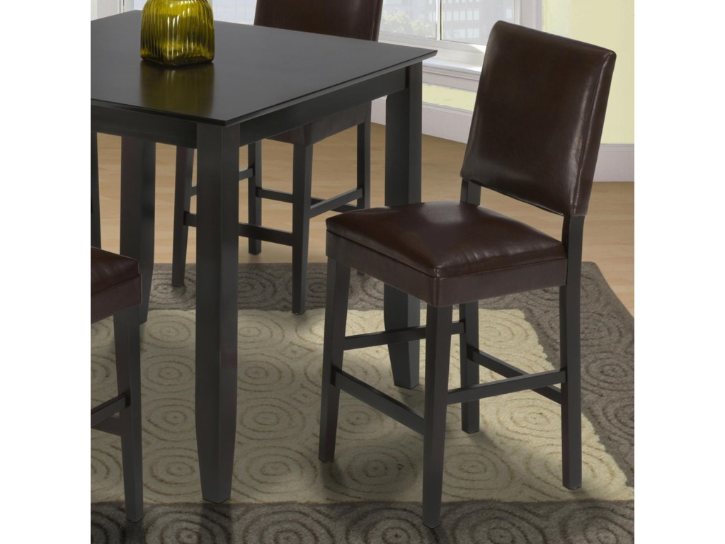New Classic Style 19Chocolate Counter Height Upholstered Chair