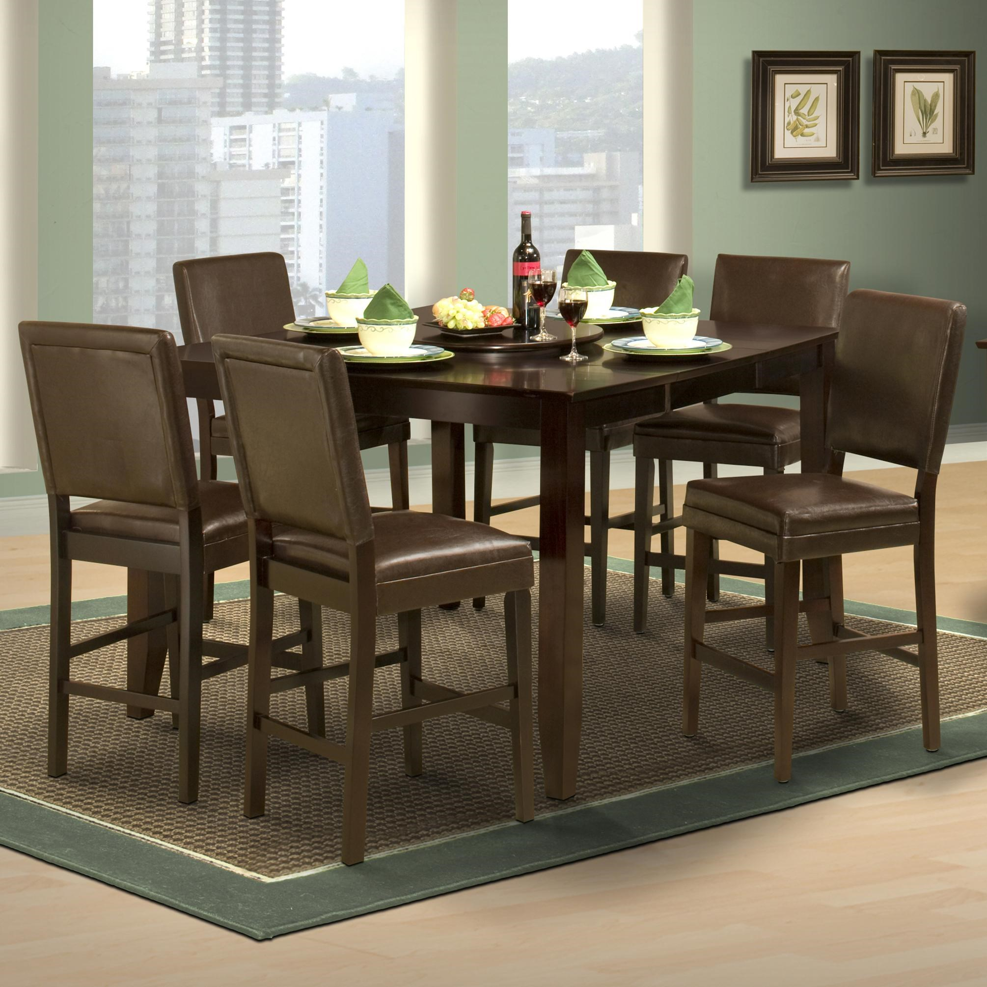 New Classic Style 19Counter Height Table And Upholstered Chairs ...