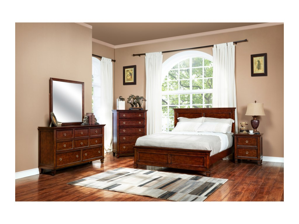 New Classic CountrysideQueen Panel Bed