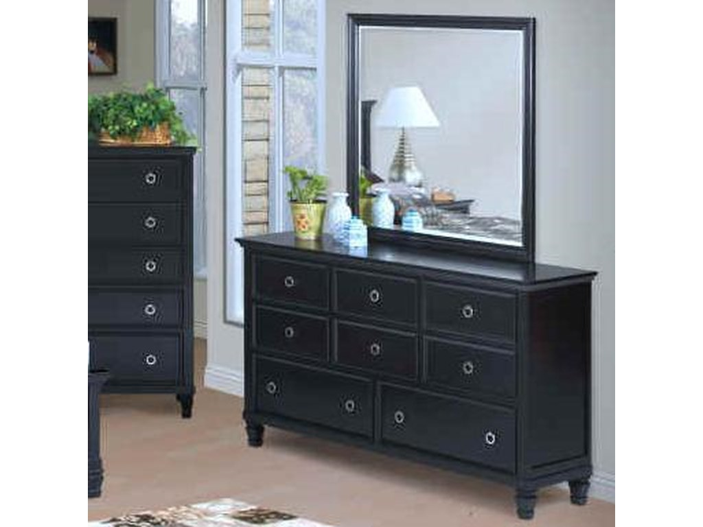 New Classic TamarackDresser and Mirror Set