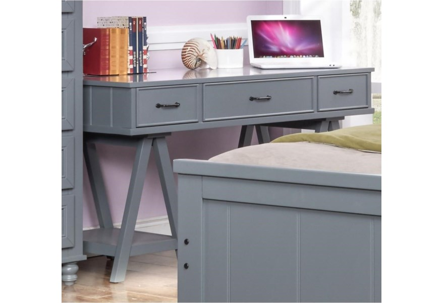 New Classic Taylor Youth Bedroom Casual 3 Drawer Desk ...