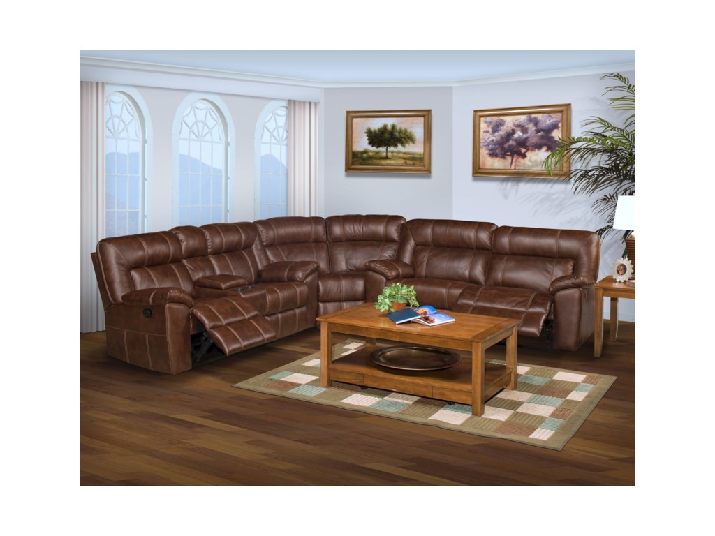 New Classic Thorton Casual Power Reclining Sectional Sofa with ...