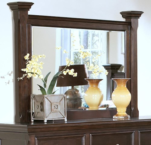 New Classic Timber City Dresser Mirror with Posts