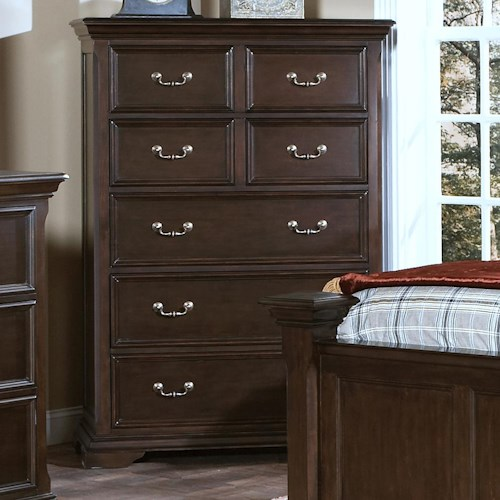 New Classic Timber City Seven Drawer Chest