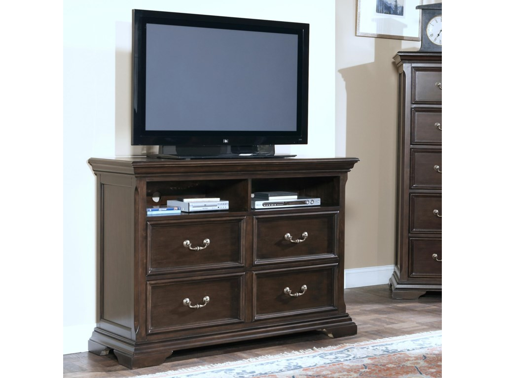 New Classic Timber CityFour Drawer Media Chest