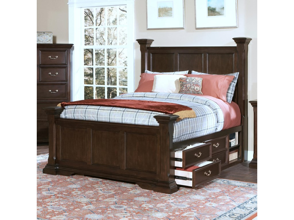 New Classic Timber City California King Captain's Bed with