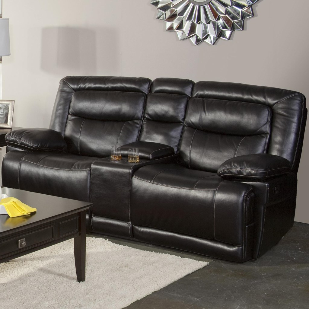 Torino Casual Dual Recliner Console Loveseat With Pillow Top Arms