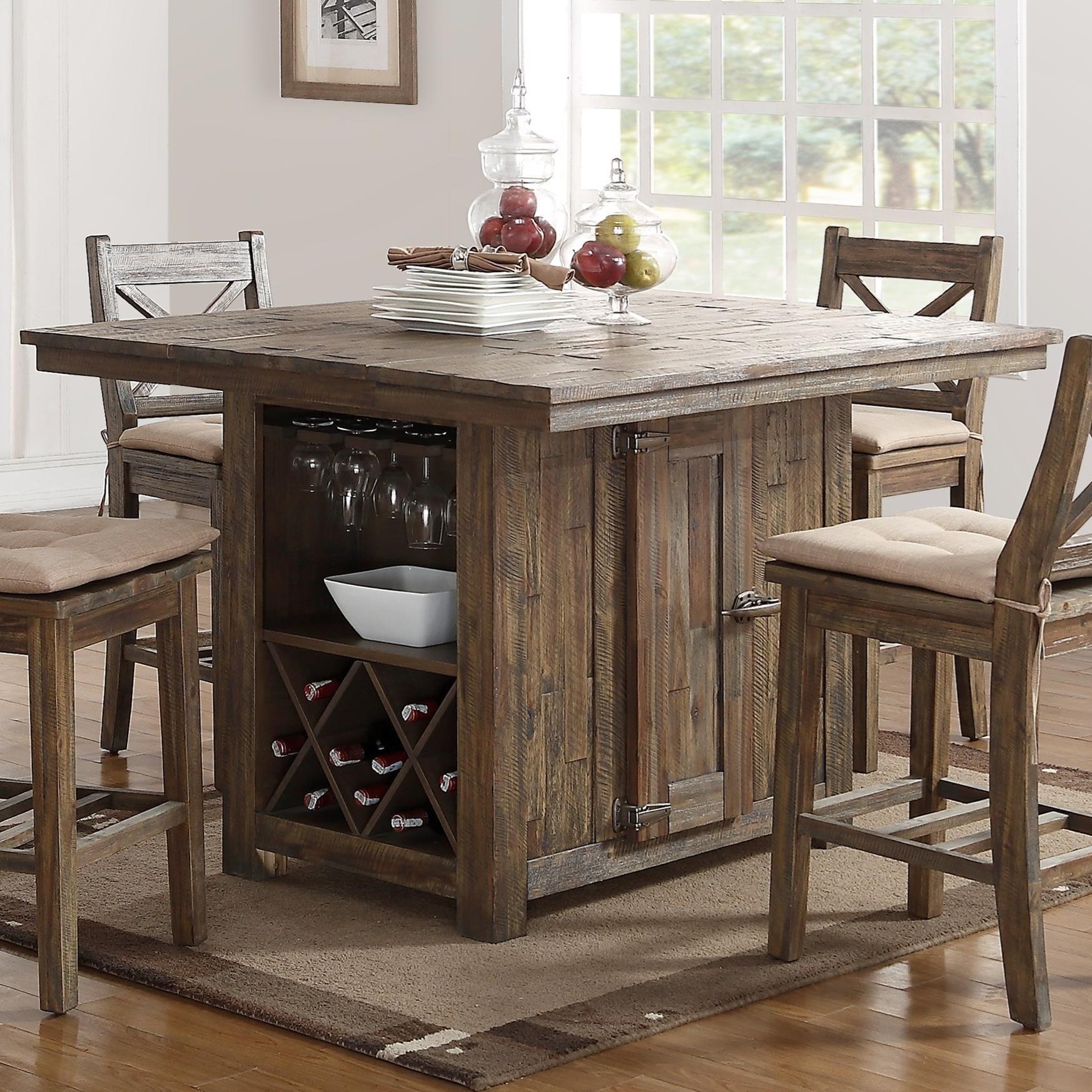 new classic tuscany park d7404 18 pub table with wine glass and rh dunkandbright com noah pub dining room set