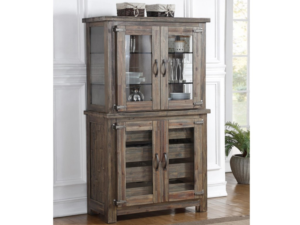 Tuscany Park Rustic Curio Cabinet With Built In Display Lights By New Clic