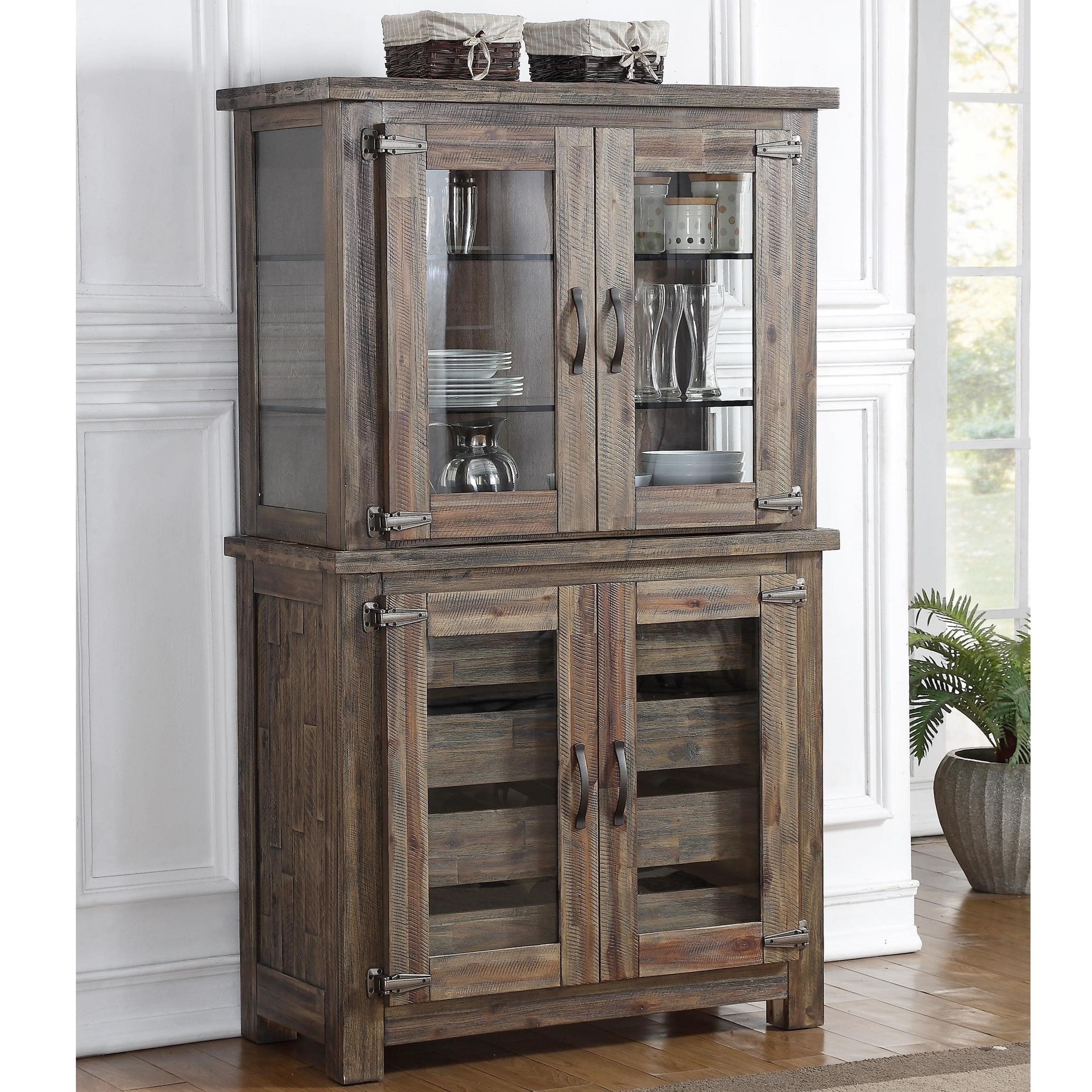 Tuscany Park Rustic Curio Cabinet With Built In Display Lights By New  Classic