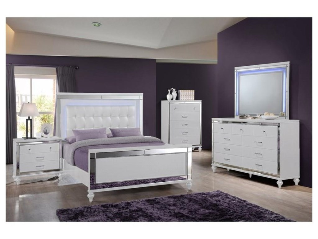 New Classic ValentinoKing UPH Panel Bed Package