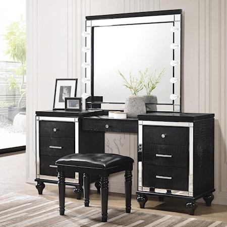Vanity and Mirror Set