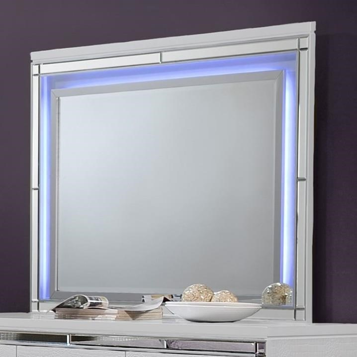 New Classic Valentino Ba9698w 060 Dresser Mirror With Led Lighting Sam Levitz Furniture Dresser Mirrors