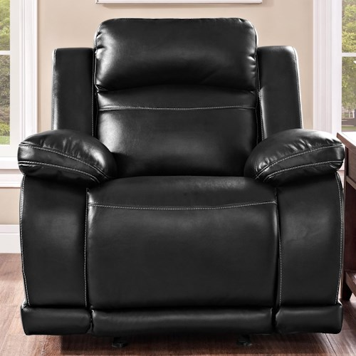New Classic Jet Casual Power Glider Recliner with Pillow Arms