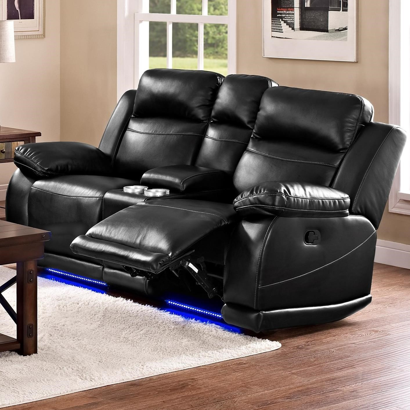 New Classic Jet Casual Power Reclining Loveseat with Console and Cup Holders : power reclining loveseats - islam-shia.org
