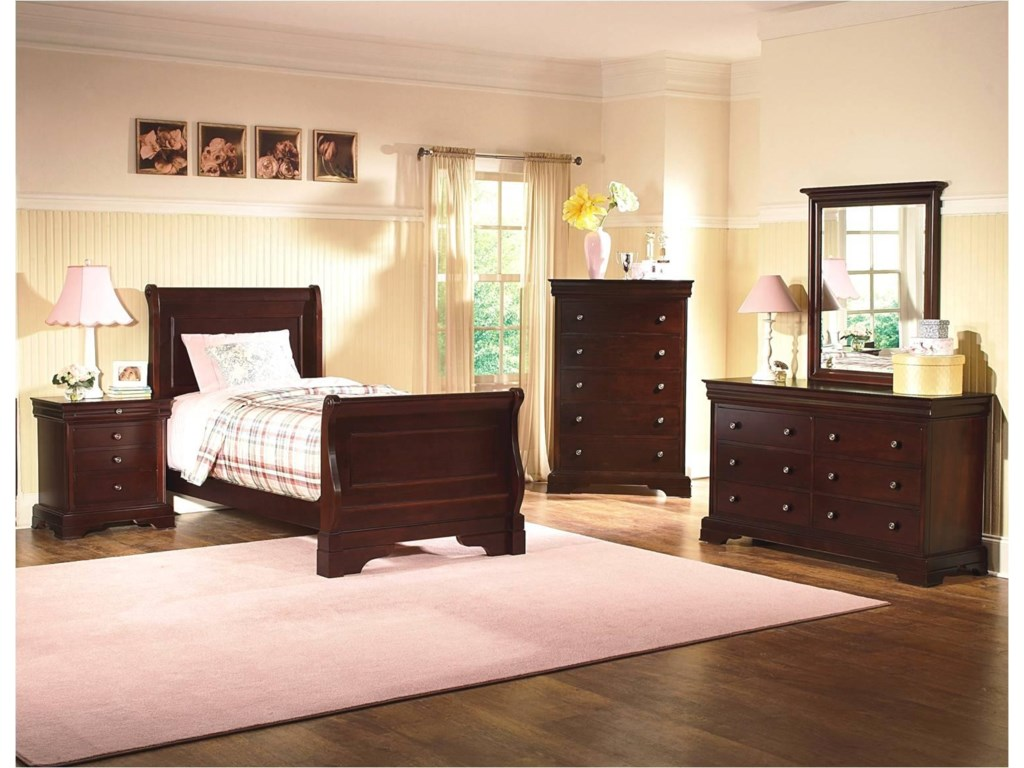 Shown with Night Stand, Chest, Dresser, and Mirror.  Bed Shown May Not Represent Size Indicated.