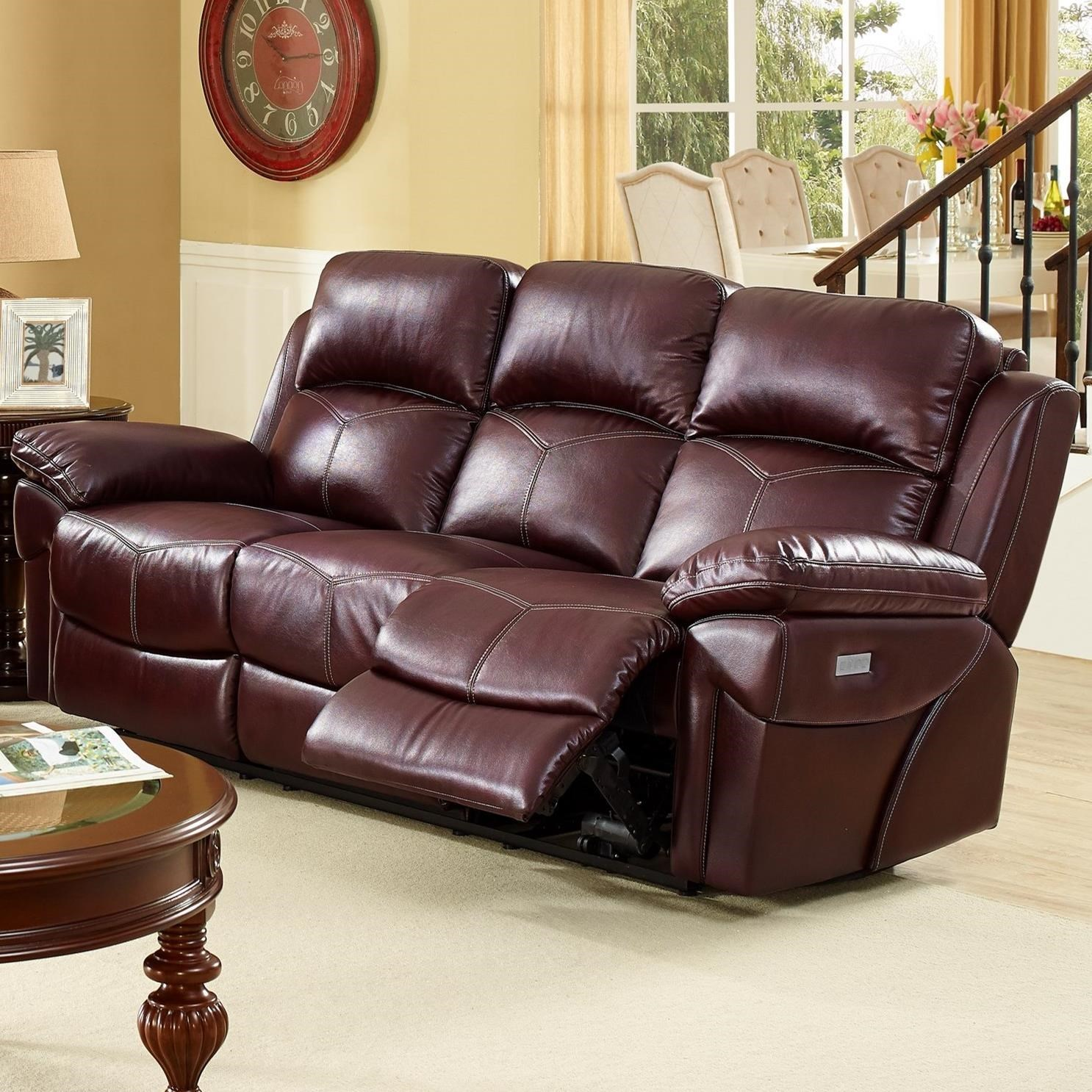 Brown Sofas Defaultname Sectional Sofa With Recliner And Chaise