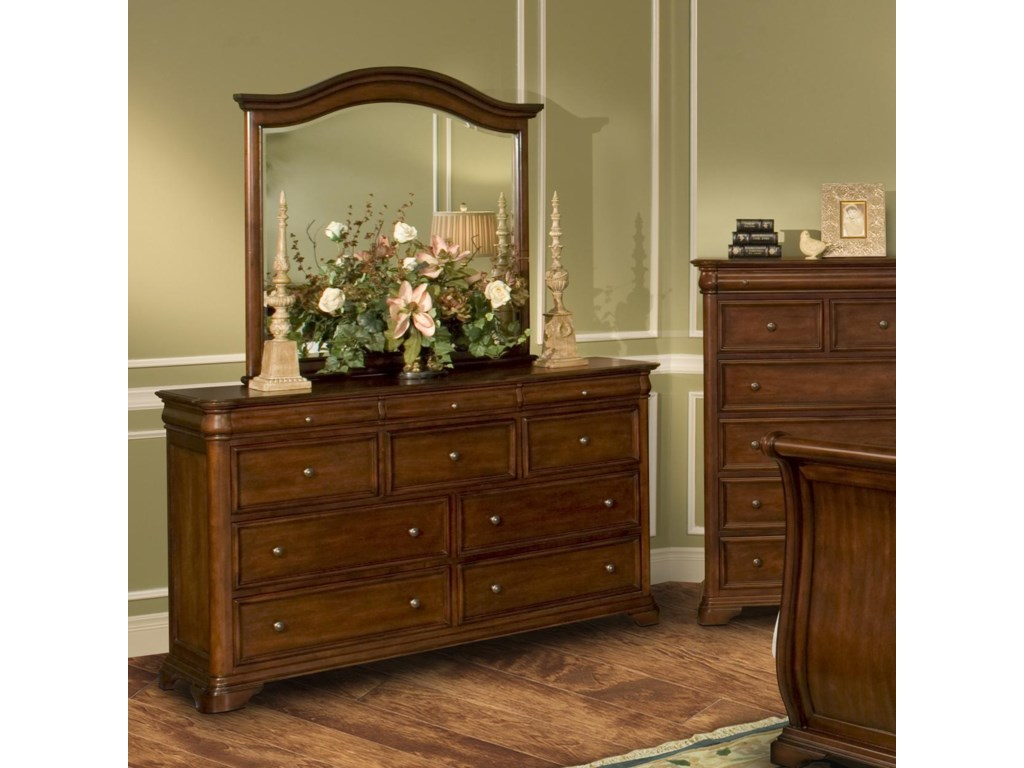 New Classic Whitley CourtDresser & Mirror Combo
