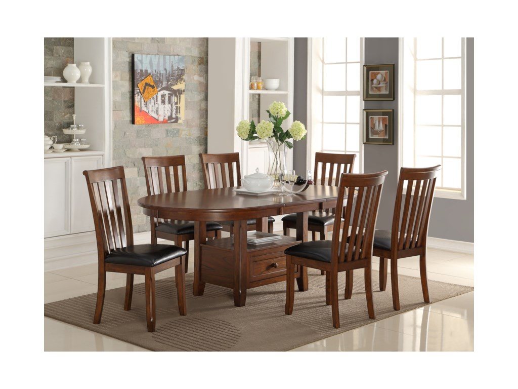 New Classic Wilson7 Piece Dining Table Set