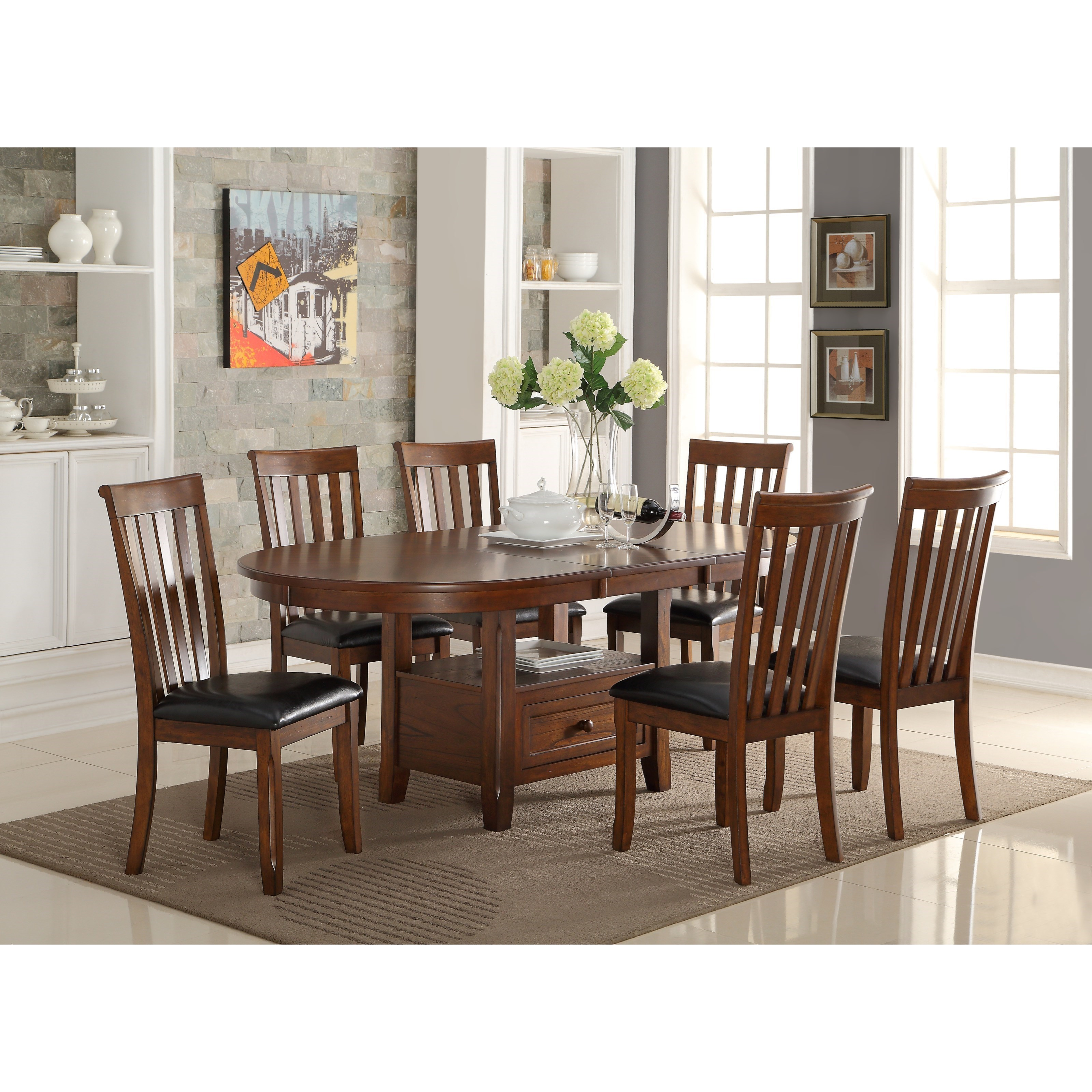 Beau New Classic Wilson7 Piece Dining Table Set