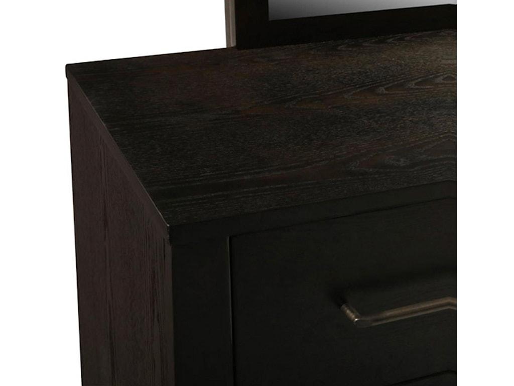 New Classic ZorraQueen Platform Bed, Dresser, Mirror, and Nig