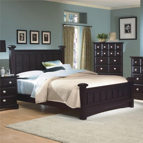 New Classic Arbor King Birch Panel Bed