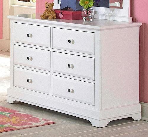 New Classic Bayfront Six Drawer Dresser