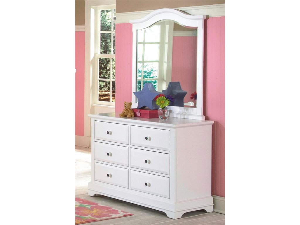 Dresser Shown with Mirror.