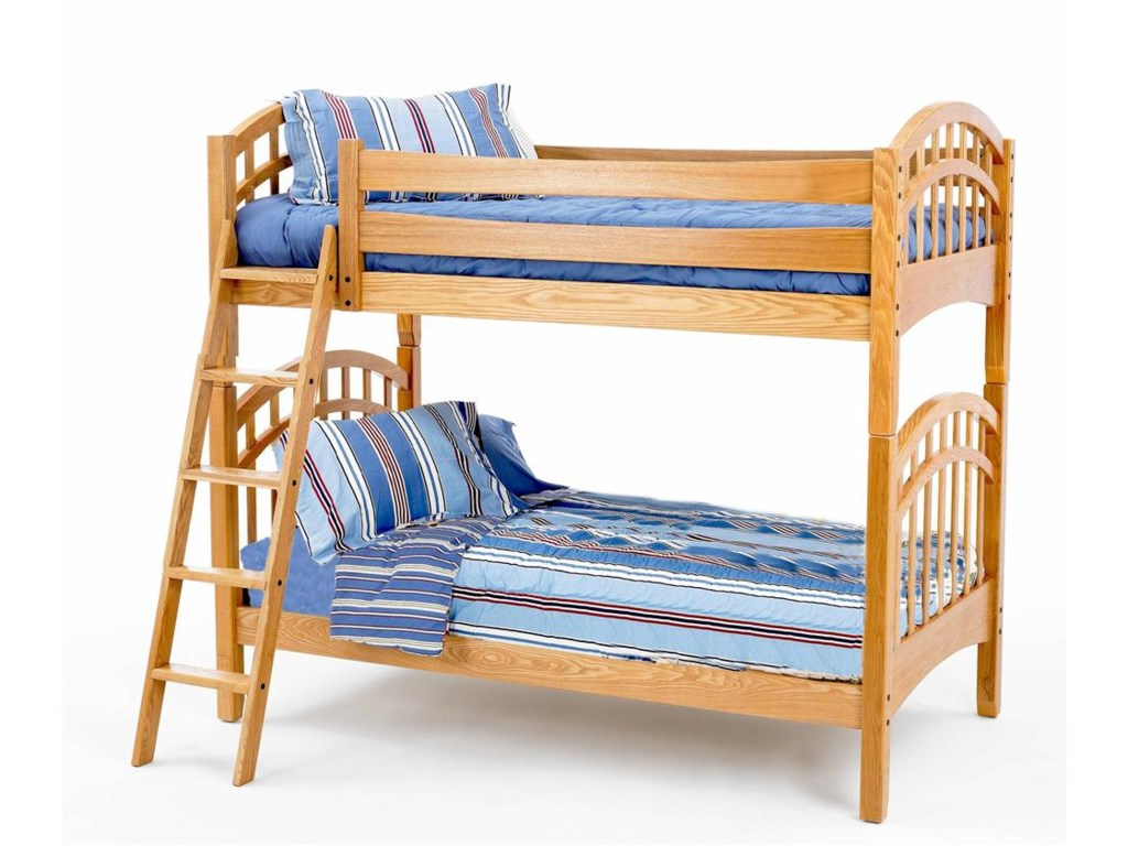 New Classic Casual Oak YouthTwin/Twin Oak Bunk Bed