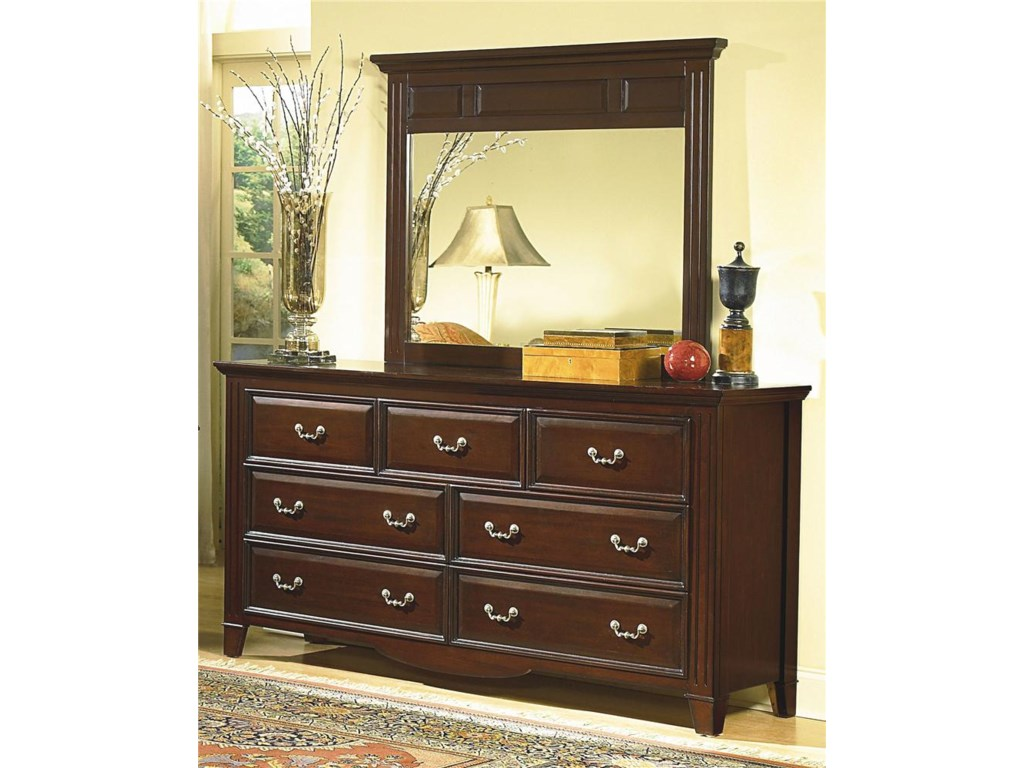 Mirror Shown with Dresser.