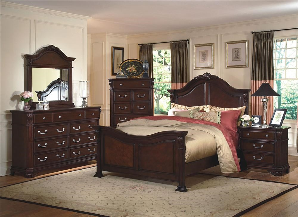 Shown with Queen Poster Bed, Dresser and Mirror, and Nightstand