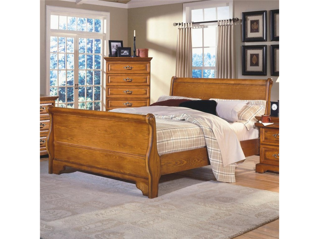 New classic honey creekking sleigh bed