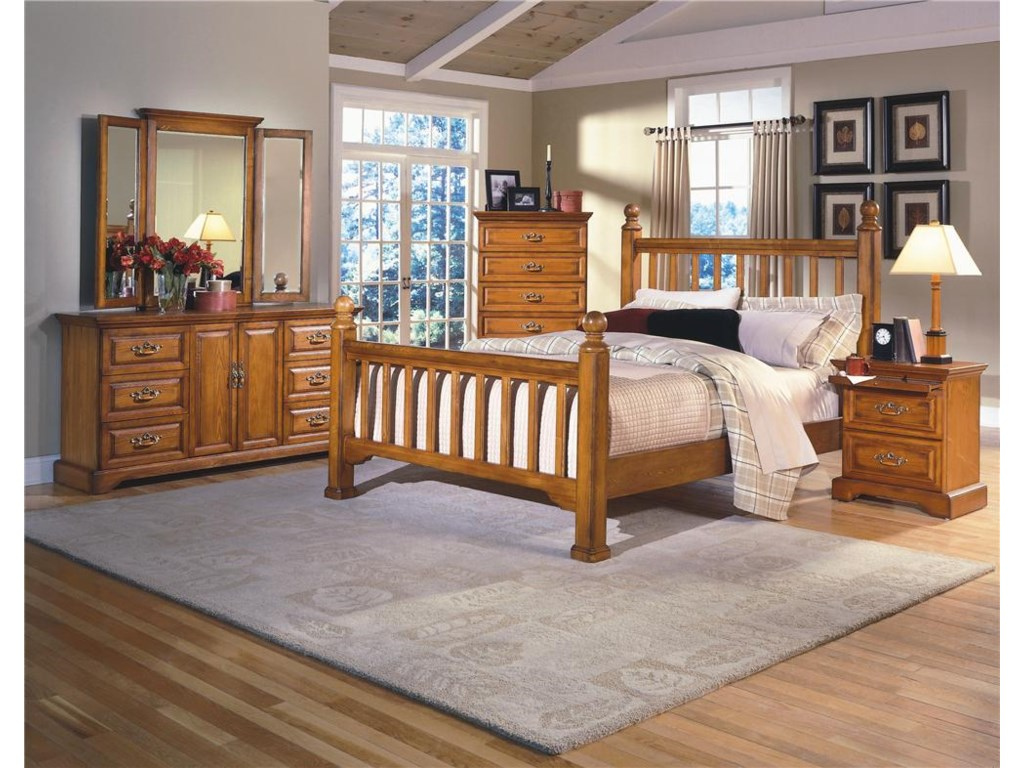 Shown with Dresser and Wing Mirror, Lift Top Chest, and Nightstand - Bed Shown May Not Represent Size Indicated