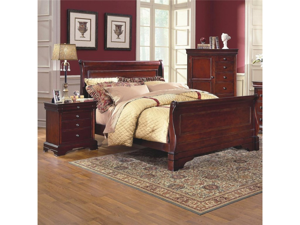 New Classic VersailleQueen Sleigh Bed