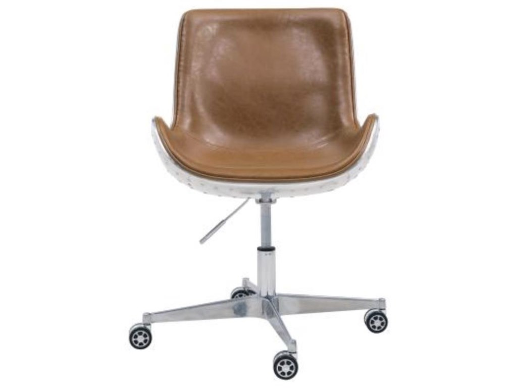 Happy Chair AbnerAbner Office Chair, Distresed Caramel