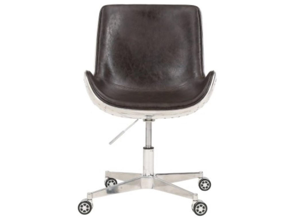 Happy Chair AbnerAbner Swivel Office Chair, Distressed Java