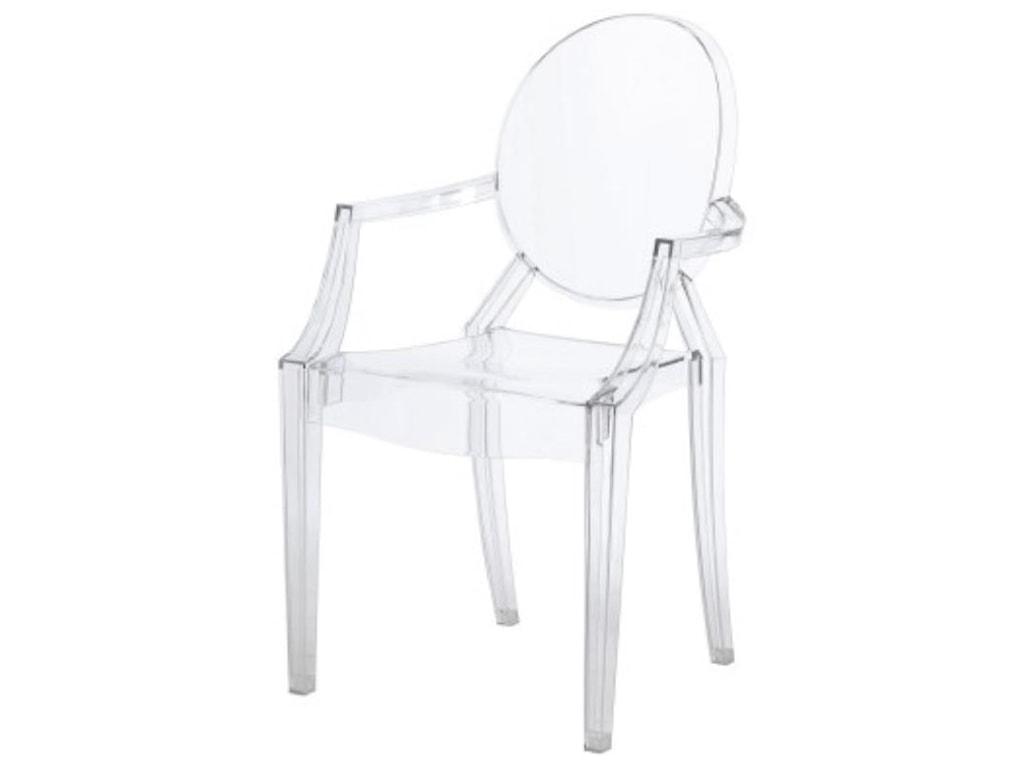 Happy Chair AllegraAllegra Arm Chair, Transparent Crystal