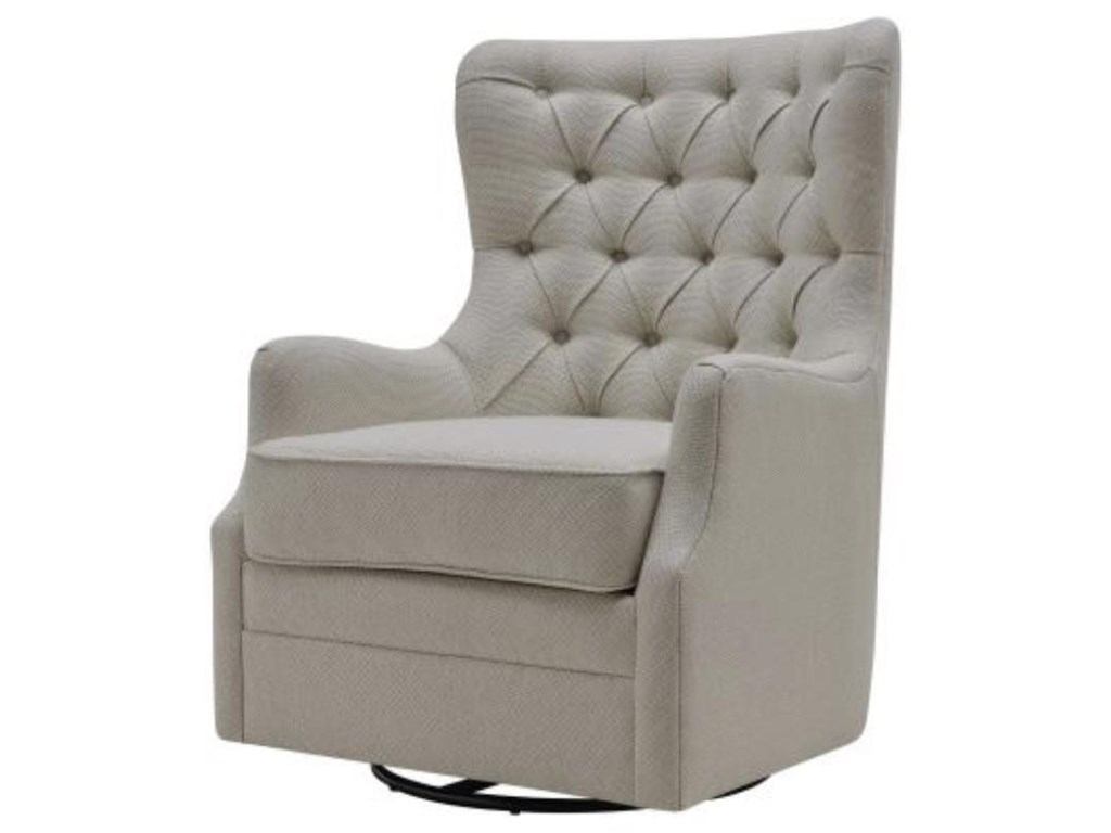 Happy Chair AnthonyAnthony Fabric Swivel Rocker Tufted Chair