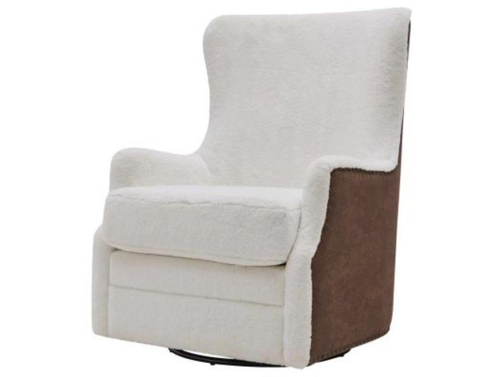 Happy Chair AnthonyAnthony Faux Fur Swivel Rocker Chair