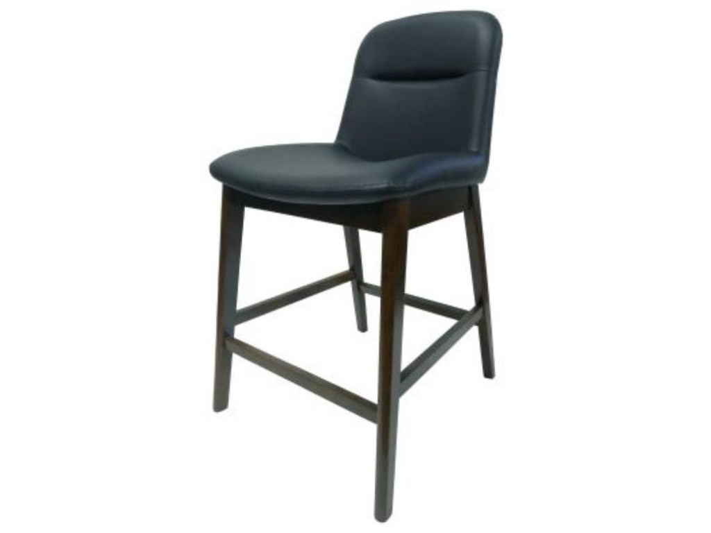 Happy Chair DennisDennis Counter Stool Walnut Legs, Navy Blue
