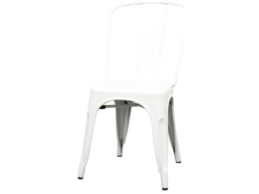Happy Chair MetropolisMetropolis Metal Side Chair, Frosted White