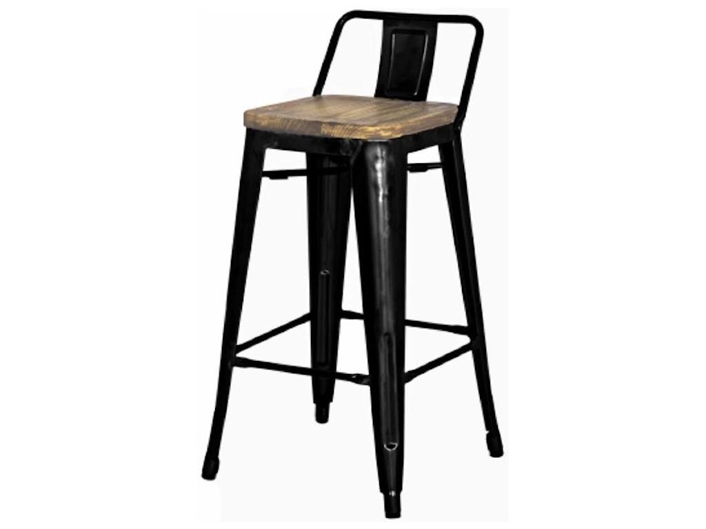 Happy Chair MetropolisMetropolis Counter Stool Wood Seat, Black